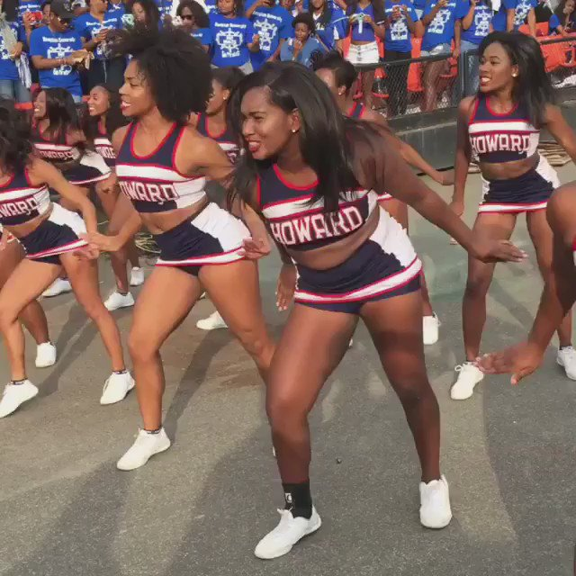 Howard University Cheer, we see you