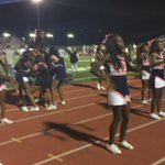 Calloway cheer leaders come and do a cheer for the yellow jackets. https://t.co/W7JDsULDJP