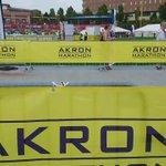 half marathon runners head to the finish line at Canal Park. #runakron @ohio.com https://t.co/LkRDDT9Nd7