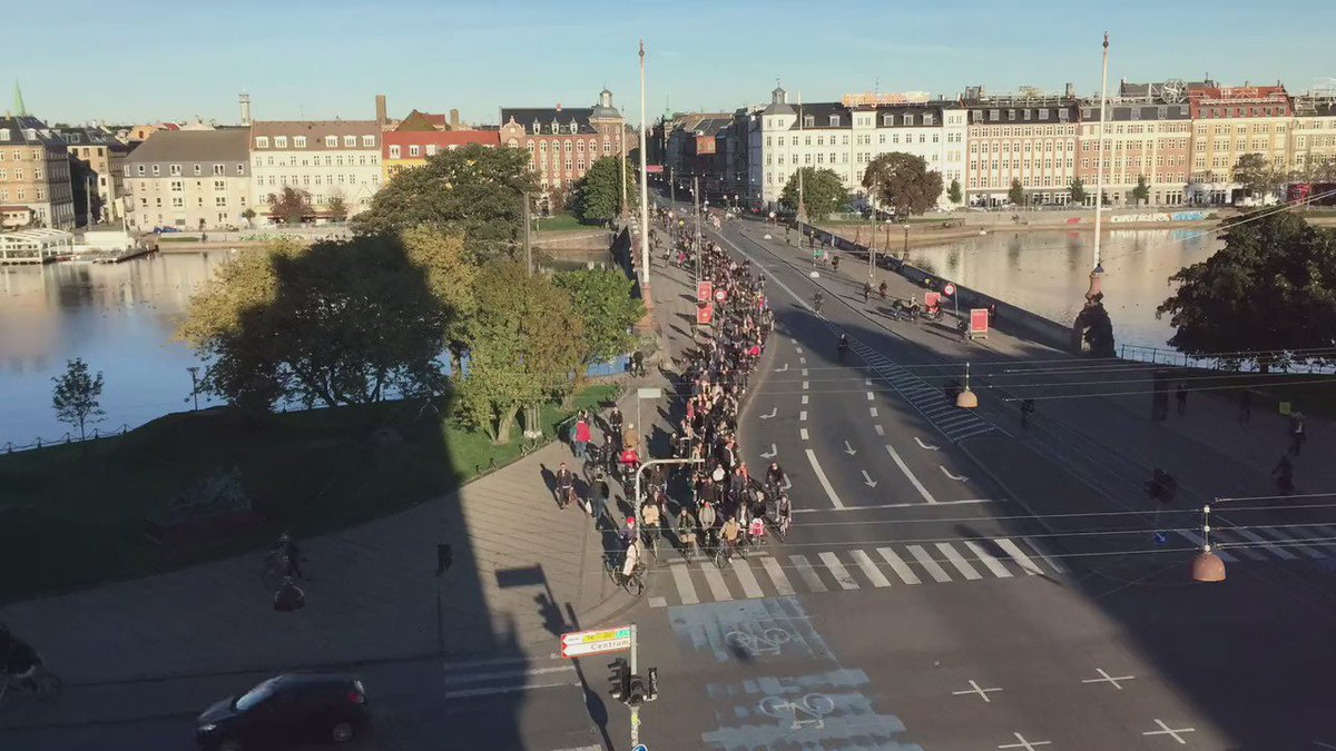 Meanwhile in Copenhagen... rush hour.