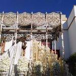 Abandona el atrio la Virgen de la Paz con su marcha @HermandadPaz @BMSantaAna https://t.co/i5AIdGz5VR