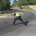 "Everyones favorite dancing cop, Officer BJ Blank, ""directing traffic"" on Tates Creek Road. 😂😂😂 https://t.co/foRtuMNUkf"