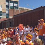 Vol fans revved up and ready for the Vol Walk with a little Rocky Top! @wvlt https://t.co/22cDfAWgPG