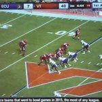 QB Jerod Evans CRAZY 55-yard TD run! Gotta be a #SCtop10 play! #Hokies #VT https://t.co/EqDGsLZFul