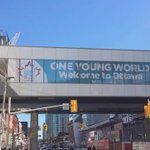 Its all coming together! The city is getting dressed up for @OYWOttawa. #SeeYouInOttawa https://t.co/G2wRuyL80k
