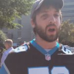 Outside #Panthers game, protester campaigns to end white silence .. via @katieperalta #charobs https://t.co/U5krIrpmQ0
