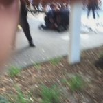 This man being arrested slipped off curb & was hit by CMPD ATV. Crowd angry #CharlotteProtest https://t.co/78QN4W9DcV