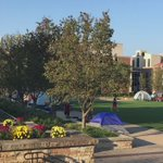 Tent City 2016 has begun! 55 tents are up!  #WVU #TentCity @WVUTentCity https://t.co/Hca3MZRqJk