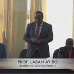 Prof Laban Ayiro Confirms He Is Not Fit To Be Moi Universities' Vice Chancellor #AyiroNotQualified https://t.co/nl91dWSR3V