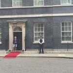 Theresa May greets the president of Cyprus at No.10 - incidentally it is his birthday https://t.co/LWAooQZzks