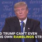 """في مناظرة هيلاري وترمب في كل مرة دونالد ترمب يقاطع وينفي بقوله: """"خاطئ او انه لم يقل هذا"""" هو في الحقيقة قال هذا ! https://t.co/ppUNlPuEBe"""