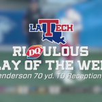 RiDQulous Play of The Week (09/27/16) - @LATechFB Carlos Hendersons 70 yd. TD reception vs. MTSU #EverLoyalBe https://t.co/oznX1iUMQJ