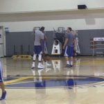 Practice #1 for Kevin Durant as a Warrior https://t.co/Ji9OMjMiHt