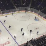 The view of warm up from up top! #NHLJets take on the Flames at the top of the hour! https://t.co/9SZNsDBpGF