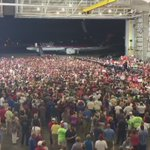 View from above at tonights Trump campaign rally in Melbourne, Florida https://t.co/OJcEEknPJX