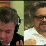 Santos Vs Alias Iván Márquez sobre el dinero de Farc. #ColombiaDecideNO https://t.co/EIKp9QBqL0