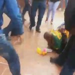 Video emerged of a student being dragged by private security at #UJ today. #FeesMustFall @IOL https://t.co/66uDfvO9dM