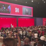 Attending Jeremy Corbyns Leadership Speech - Standing Ovation at conference #LAB16 https://t.co/4m8lhE8Qr7