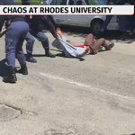 Chaos at Rhodes University: Police fire rubber bullets, several protesters arrested. #FeesMustFall protest. https://t.co/U5uFyjRzpn
