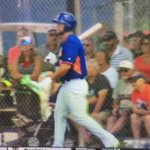 Tebow hit a HR on the first pitch of his first at bat. #Mets #Tebow https://t.co/eNxmeUg93a