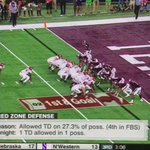 Fun fact: A&M had only 10 men on the field for this play during one of their goal line stands against Arkansas.   Didnt seem to matter. https://t.co/nonaDts9vR