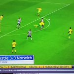 95th minute - Newcastle 2-3 Norwich  96th minute - Newcastle 4-3 Norwich  United. #NUFC  https://t.co/GBf4PSxO1w