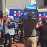 """""""Go vote! Go vote! Go vote!"""" What it looks like as you exit the @HillaryClinton Des Moines event https://t.co/UPTtOXNQ20"""