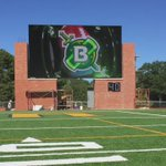 The new HD video board is being tested at the Belhaven Bowl Stadium. https://t.co/Ky2TF60glc