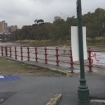 This is the Torrens weir this morning. Be careful downstream to West & Henley Bch https://t.co/k4Fb3G0xah