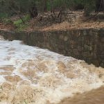 Fast flowing water this morning across #Adelaide Dont  play near creeks or drains. https://t.co/XIhJtCX6RB