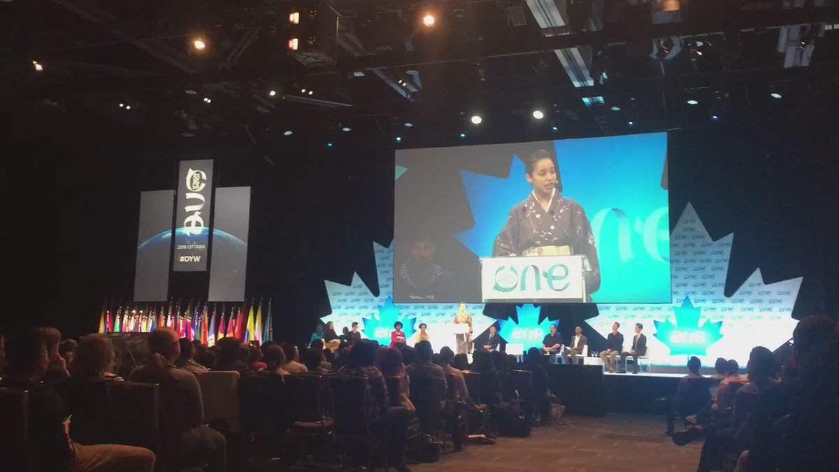 """I am #Japanese and I hate myself."" @naomiiwazawa on celebrating #diversity @OYWOttawa. #oyw #OYWOttawa #OYW2016"