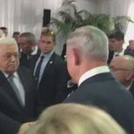 Peres working for peace from beyond the grave: Abbas and Netanyahu meet and shake hands at #PeresFuneral https://t.co/opg1SZIxMh