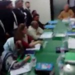 """Slogans of """"Absar Alam Murdabad"""" by group of men who disrupted a PEMRA meeting hearing a case against 2 channels   https://t.co/DhYMYDZhsU"""