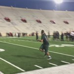 #Spartans: O-linemen warming up with some routes and pass catching. #TheyCanBlockandCatch https://t.co/mDtAerEvRG https://t.co/L0LuO3vpM6