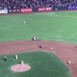 Crazy #Dodgers fan, tackled by #AngelPagan at the @SFGiants game tonight. https://t.co/9fpyOuzpOJ
