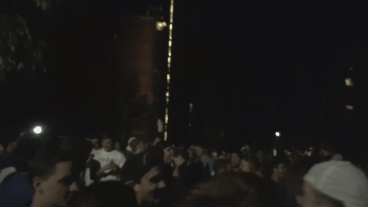 "Students chant ""F--- the clowns"" in the Pollock quad. https://t.co/sRMdaka9IW"