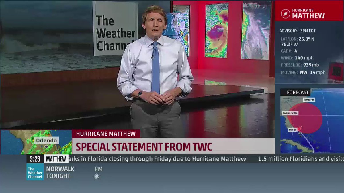 ".@WeatherChannel just aired this URGENT message, #Mathew EVACUATIONs. ""This is not hyperbole, and I am not kidding""  https://t.co/meZAU5kSZm"