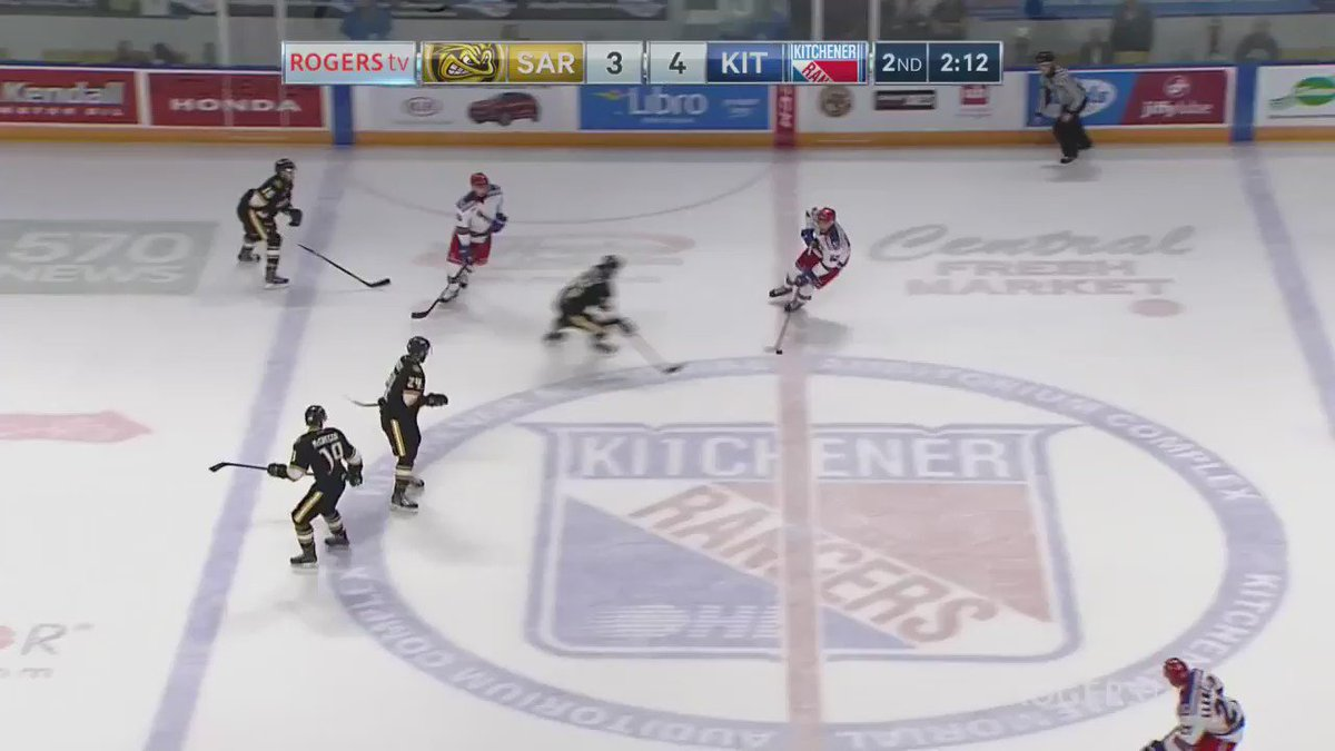 WATCH THIS: @MapleLeafs prospect @NKoro35 shows off his dance moves with his 2nd of the game for @StingHockey https://t.co/U6P2rt3Ix7