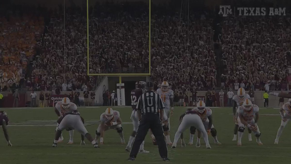 He's going to air it out and he will and it's... INTERCEPTED!!! #12thMan #TENNvsTAMU https://t.co/JBi4Une6xn