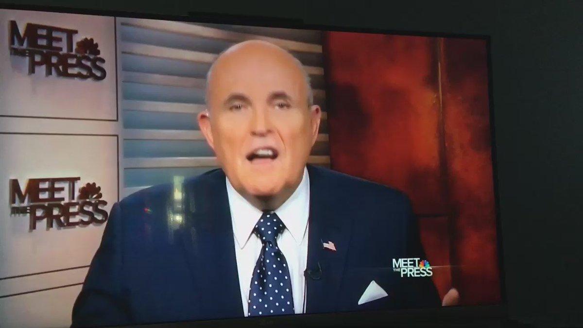 .@meetthepress just destroyed Rudy Giuliani and @realdonaldtrump https://t.co/XSeuEHrNao