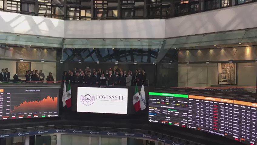 Felicitamos a @FOVISSSTEmx por las emisiones bursátiles que ha realizado en #LaBolsa https://t.co/nOYhWp8dHC