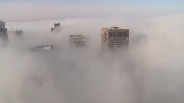 """Caught some """"undercast"""" in #Boston as the fog/low clouds dominate. #WCVB https://t.co/YOOc0V2iaL"""
