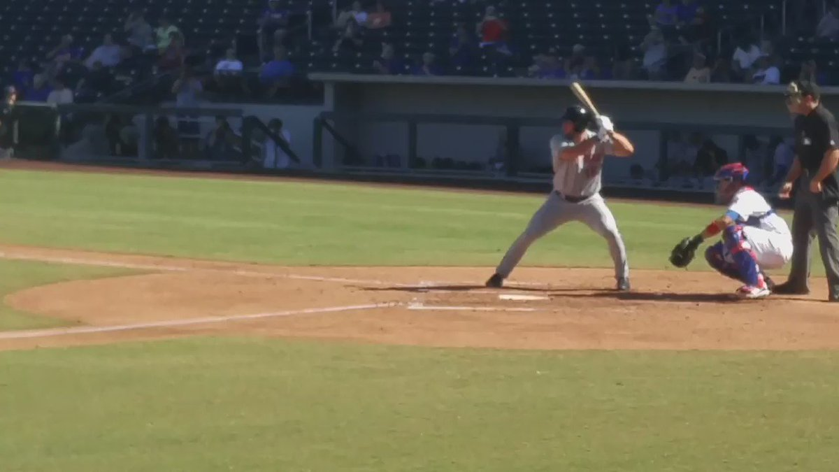 Here's a look at Tim Tebow's swing on his first #AFL16 hit #Mets https://t.co/lloCqhlU0e
