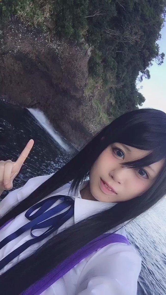 あまんちゅ!てこちんのコスプレして聖地へ行ってきました!ここは汐吹公園で、水がブシャー!!!!!っとなりまするすごいです