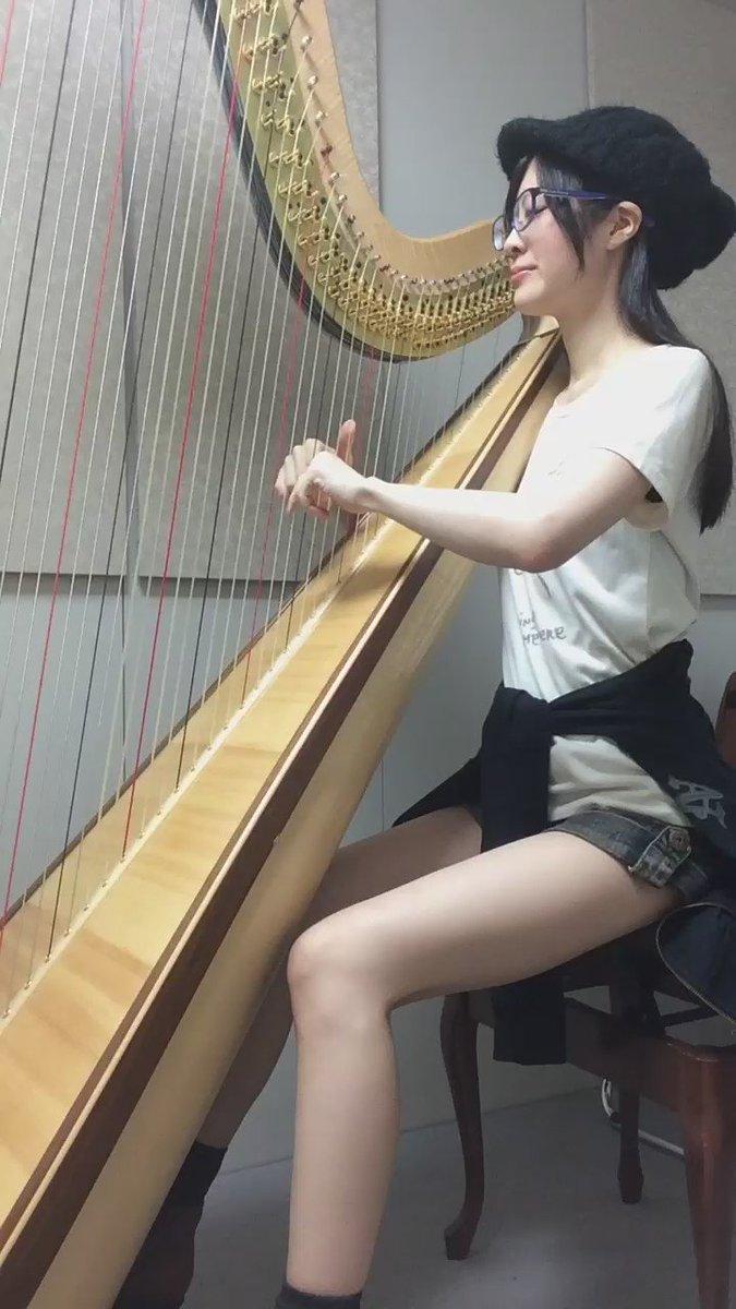 @0202an: 【うたわれるもの】キミガタメ【ハープ弾き語り】一目惚れならぬ一耳惚れした曲です。毎週土曜夜は#東方ハー