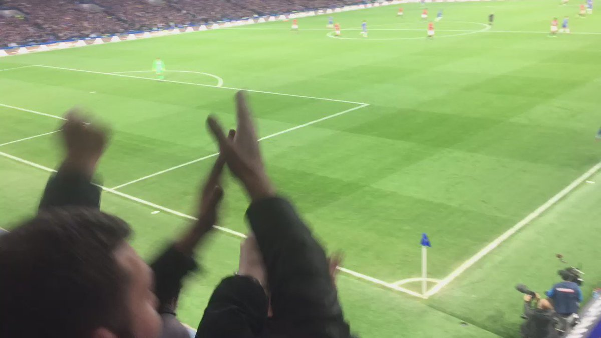 The Manchester United end in the second half as the goals flew in. https://t.co/zFMPHmwvPP