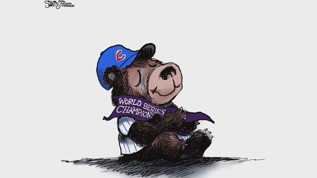 Watch cartoonist @sstantis draw the feelings behind a 108-years-in-the-making Cubs World Series victory. https://t.co/wtEgXsI2EV
