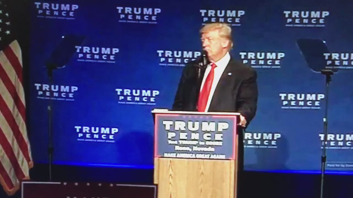 Trump was rushed of stage by secret service at Nevada rally just now: https://t.co/5T8EyrxXgK