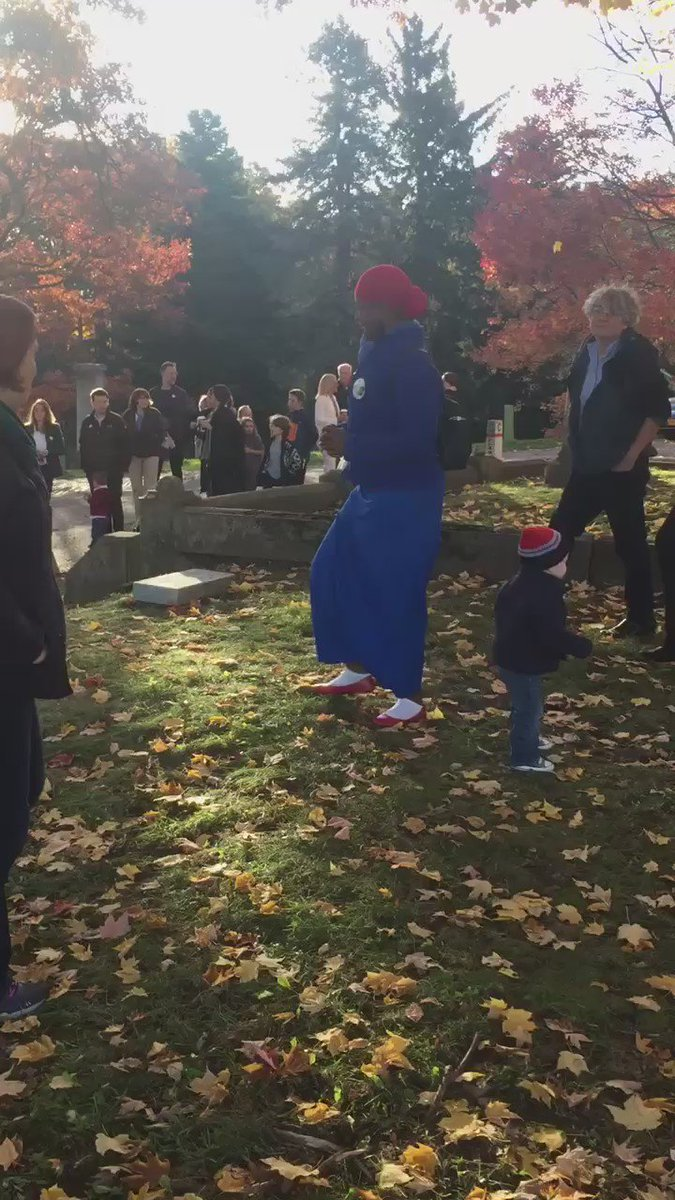 The scene at Susan B. Anthony's grave. And it's a scene. https://t.co/mgQNwmsB9f