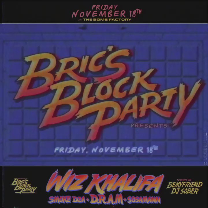 Next Friday.  Dallas for #BricsBlockParty tickets at a special price today only. #TGOD https://t.co/erGaw9pM3q https://t.co/CaCIy5erOM